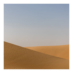 Desert (jelleteusink) Tags: desers sand patterns nature simple sky blue