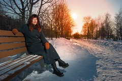 Eva (Dennis Mikhaylov) Tags: winter snow portrait nikon d50 tokina 1120 sb600 sun flash strobe