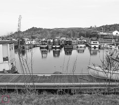 Auchinstarry Marina, Forth and Clyde Canal, Scotland (picsbyCaroline) Tags: barge canal marina boat water scotland united kingdom landscape waterfront