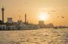 DSC_5405 (Hussien L Sayed) Tags: dubai creek dubaicreek uae silhouette yellow sunset
