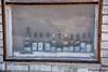 Darwin, CA - Wine Bottles in a Window (www.karltonhuberphotography.com) Tags: 2017 brickbuilding california darwin easternsierra easternsierrafoothills fadded horizontalimage karltonhuber oldbuilding paintpeeling rundown stories weathered window wine winebottles