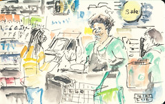Check out at the Germantown Whlefoods (4) (tompellettdesigner) Tags: tompellett urbansketchers inkbrush derwentinktenseblocks