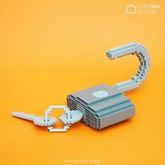 nanoblock Padlock (inanoblock) Tags: miniblock lego brickartist padlock buildingblock blocks bricks ナノブロック moc nanoblock