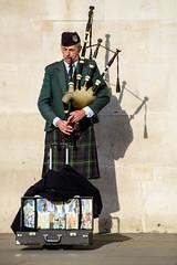 The Piper plays the tune (Chris Hamilton Photography) Tags: trafalgarsquare d600 performer street piper musician nikon