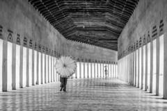 Bagan, Myanmar (gstads) Tags: bagan myanmar burma birma birmanie burmese temple architecture columns pillars umbrella line lines geometry repetition bw blackandwhite blackwhite monochrome noiretblanc ngc