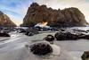 Big Sur (Rod Heywood) Tags: bigsur surf coast light winter rocks portal keyhole waves pfeifferbeach yellow rays ocean spray seaweed sunset montereycounty scenic tunnel bigsurcoast sand beach
