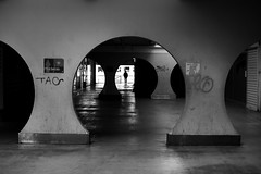 In the hall of the curvatures (pascalcolin1) Tags: paris13 homme man hall cercle circle photoderue streetview urbanarte noiretblanc blackandwhite photopascalcolin 50mm canon50mm canon