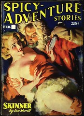 Spicy Adventure Stories Vol. 5, No. 5 (February, 1937). Cover Art by H. J. Ward (lhboudreau) Tags: pulp magazine magazines pulpmagazine pulpmagazines magazinecoverart pulpmagazinecover pulpmagazinecovers magazinecover magazinecovers pulpart spicypulps spicypulpmagazines spicypulp spicypulpmagazine spicyadventurestories vol5no5 1937 feb1937 ward hjward skinner lewmerrill knife knifewielding bloodyhand sleaze vintagesleaze vintagepulp spicy pulps pulpfiction coverart spicyadventure adventure damselindistress ladyinperil helplesswoman pulpcover trojanpublication gga goodgirlart illustration art artwork