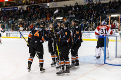 """Kansas City Mavericks vs. Cincinnati Cyclones, February 2, 2018, Silverstein Eye Centers Arena, Independence, Missouri.  Photo: © John Howe / Howe Creative Photography, all rights reserved 2018. • <a style=""""font-size:0.8em;"""" href=""""http://www.flickr.com/photos/134016632@N02/26244998558/"""" target=""""_blank"""">View on Flickr</a>"""