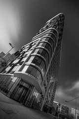 IMG_0525 (chemist72 (Pascal Teschner)) Tags: architecture modern amsterdam zuidas station building monochrome canon7dii wideangle lines geometric skylight symmetry sky skyscraper window