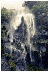 Milford Sound (AdrienMD) Tags: avecdrapeau new zealand milford sound fjords camping tent pacific ocean southern south island waterfall cliff