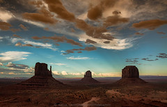 Monument Valley Style Sunset (Saija Lehtonen Photography) Tags: monumentvalley themittens merrickbutte arizona southwest desert landscape nature sandstonebuttes nationalpark skyscape cloudscape features desertsouthwest desertlandscape redrock