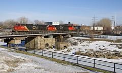 CN 527 (Michael Berry Railfan) Tags: cn canadiannational montreal montrealsub lachine sthenri quebecgatineaurailway train freighttrain cn527 sd60 gp402lw emd gmd dash9 dash944cw ge generalelectric