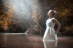 Rehane ... (Mick Cam Photography) Tags: natural waterfall water creek girl woman women light bestportraitsaoi