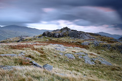 Back on Harter Fell (Benjamin Driver) Tags: harterfell harter fell lakedistrict lake district england north hills mountains mountain summer slowshutter slow shutter cloud clouds 2017 bleak canon sigma