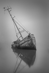 Pin Mill Orwell Wrecks Suffolk. (Albert's Photo's) Tags: orwell river exposure long shaw graham mkiii canon 5d black white suffolk