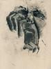 Facial distortion etching (chloelaurentyler) Tags: etching print tonal response art distortion sewing linework