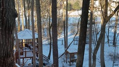 yes, more snow in Atlanta (Vicki's Nature) Tags: snow backyard trees gazebo january 2018 vickisnature samsung 201801170908082