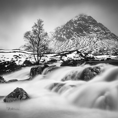 At Full Flow (SAWPHOT0) Tags: landscape scotland glencoe snow waterfall winter ice water longexposure nature mountain blackandwhite