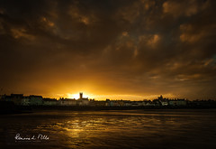 The Glow (RonnieLMills) Tags: evening glow sun sunset golden colours silhouettes church moat donaghadee town valentines day county down northern ireland