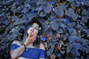 Keep the soul (Kathy Chareun) Tags: challenge alphabet k alfabeto art arte ps photoshop leaf hoja nature naturaleza flower flowers flores flor dress vestido woman mujer femme girl hand mano blue azul lr lightroom autorretrato autoretrato selfportrait soul alma