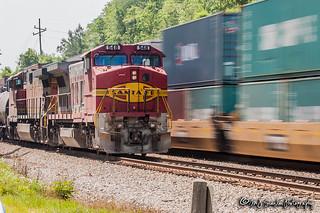 BNSF 548 | GE B40-8W | CSX M&M Subdivision