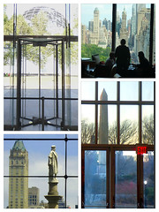 Looking Out (Slip Mahoney) Tags: new york city door doorway columbus columbuscircle cleopatras needle centralpark manhattan