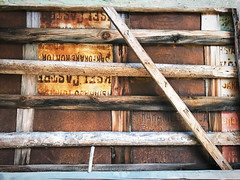 (Sameli) Tags: decay rust rusty roof rooftop old commercial sign metal plate