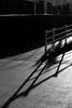 Land of shadows (Jacek Rudowski) Tags: land shadows shadow light lightandshadow shades shapes lines geometry geometrical people ireland dublin dun laoghaire street composition dark darkness fence rails