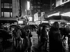 Times Square at night in the rain (Web-Betty) Tags: newyork newyorkcity nyc manhattan timessquare bigapple night bnw blackandwhite