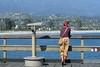 Eyes Right (AntyDiluvian) Tags: california santabarbara wharf stearnswharf pier woman gazing mountains