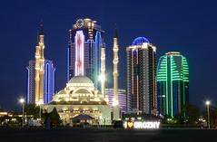 Grozny / Соьлжа-ГӀала (Chechnya) - Grozny City (Danielzolli) Tags: соьлжагӏала грозный grozny groznyy grosny chechnya chechenia cecenia нохчийчоь чечня чеченская республика tchétchénie kaukasus kawkaz kavkaz caucaso caucase кавказ kafkaz skyline skyscrapers wolkenkratzer groznycity moschee mosque cami camii meczet mascid mezquita moschea dzami džamija џамија islam islamic bluehour чеченскаяреспублика