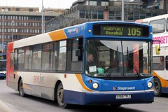 22156 S156 TRJ (Cumberland Patriot) Tags: greater manchester pte passenger transport executive stagecoach north west england man 18220 156 22156 s156trj trajic low floor bus single deck saloon buses derv diesel engine road vehicle omnibus