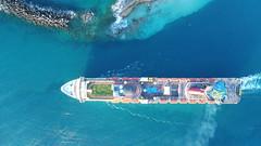 Carnival Cruise (Daniel Piraino) Tags: bahamas aerial dronephotography ship cruiseship