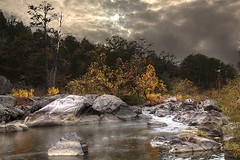 Tiemann Shut-ins Madison County Missouri (LarryHB) Tags: 2014 autumn forest hdr horizontal landscape mark twain national missouri conservation areas mountain park rocks rural scenic sky stream texture tree zzz