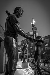 Williams and Young Fan (Bingo3362) Tags: fenway statues boston fenwaypark massachusetts tedwilliams