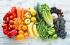 rainbow produce (auntneecey) Tags: rainbowproduce fruit vegetables overhead flatlay eatarainbow healthylifestyle health auntneecey 365the2018edition 3652018 day15365 15jan18