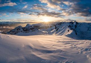 heftige Bedingungen am Berg