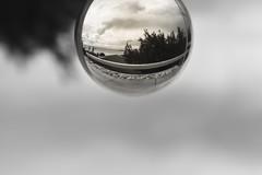 Through my #lensball (harrisgkioulistanis) Tags: lens ball lensball crystal photography bokeh monochrome blacknwhite bw transparent greece athens sigma1750
