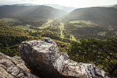 Seneca Rocks [08.20.17] (Andrew H Wagner | AHWagner Photo) Tags: 5dmk3 5d3 5dmkiii 5dmarkiii 5dmark3 outdoors explore exploration exploring hiking summer nature landscape monongahelanationalforest monongahela nationalforest lookout overlook alleghenymountains spruceknobsenecarocksnationalrecreationarea senecarocks crag rocks riverknobs mouthofseneca rocky mountain valley forest woods trees canon eos 1635l 1635mm f4 f4l is usm sunset sun sunny sunrays sunshine