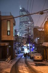 our turn 4 (matteroffactSH) Tags: seoul korea south southkorea gangnam district asia winter 2018 urban cityscape architecture future futuristic dense density skyline buildings alley nikon d800 d800e andrew rochfort andrewrochcfort matteroffact hills snow snowy cold freezing storm