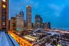 Roof Views (FARES AL-SHAMMARY) Tags: chicago city cityscape night nightlife sunset sky street skyline windy bean usa illinois millennium markiv canon 1740 buildings roof