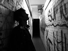 Y.V. (dariaalex) Tags: street portrait bw monochrome art people walls