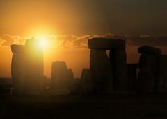 Stonehenge at Dusk (JaggedSparrow) Tags: dusk sunset stonehenge