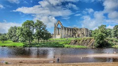 Bolton Abbey, Yorkshire. 12th Century Augustinian monastery on the River Wharfe (...Claire) Tags: canon ruins riverwharfe river summer boltonabbey abbey dales yorkshire