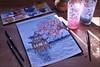 حلم الكرز (alkawther) Tags: كرز ازهار حب ازرق أزرق رسم رسمي الوان الوانمائية كانون كانون٦٠٠ سناب مساء فيسبوك رسامين زهور ورد بحر art artwork canon canon600d canonphoto cheery watercolor watercolors painting photoghraphy photo pink pinterst