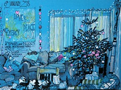 Christmas in the Black Forest (patsouthern-pearce/Skyeshell) Tags: urbansketchers christmas christmastree sketch