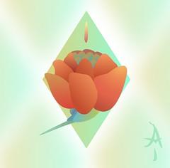 FlorRoja (albertrivasprieto) Tags: nature naturaleza paz peace flor flower red rojo soft suave illustration affinitydesigner