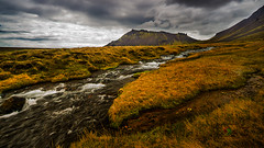 Snæfellsjökull (Jesús Ibáñez) Tags: snaefellsnes snæfellsjökull þjóðgarðurinn snæfellsnes moss grass river volcano stream iceland colors mountain water landscape outdoors sky hill glacier