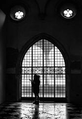 Venice on Film -Santa Maria Gloriosa dei Frari (Kinesthesis) Tags: ilfotecddx nikkon35mmaif28 ilforddelta400 nikon monochrome carnevaledivenezia street italia film italy venice bw ilford nikonfg20 venezia